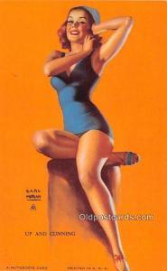 Up and Cunning, Earl Moran 1945 Mutoscope Artist Pin Up Girl, Non Postcard Ba...