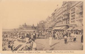 Belgium, Ostende, Ostend, Oostende, The Sea-front and the Shore, unused Postcard