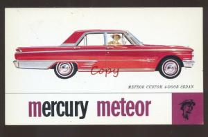 1962 MERCURY METEOR MARGARETVILLE NEW YORK CAR DEALER ADVERTISING POSTCARD