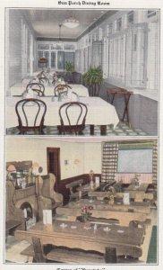 MENOMONEE FALLS , Wisconsin , 1930s ; New Eagle Hotel , split interior views