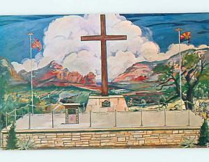 Unused Pre-1980 POSTCARD OF PAINTING OF CHURCH Sedona Arizona AZ hs6852