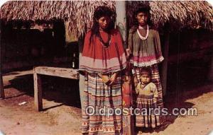 Seminole Indians Postcard Miami, FL, USA Indian Maids & Child