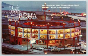 San Francisco~Villa Roma Motel & Cocktail Lounge in the Round~Sports Cars 1960s