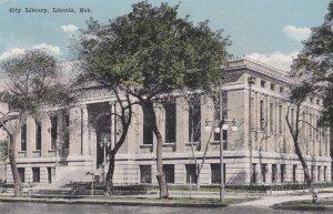 LINCOLN , Nebraska , 1900-10s ; City Library