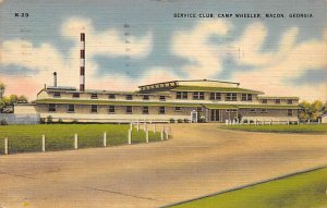 Military Post Card Service Club at Camp Wheeler Macon, Georgia, USA 1944