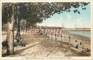 Postcard Old Saint Nazaire (I L) of the Ocean Boulevard and the Beach