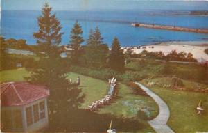 Kennebunkport Maine~The Colony Overlooking Atlantic Ocean and Beach 1950 PC