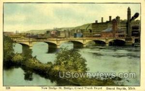 Grand River and Grand Trunk Depot Grand Rapids MI 1909