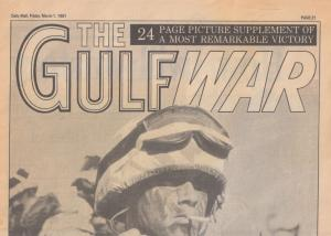 Daily Mail Military Gulf War ORIG Victory Day Newspaper