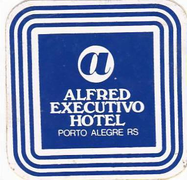 BRASIL PORTO ALEGRE ALFRED EXECUTIVO HOTEL VINTAGE LUGGAGE LABEL