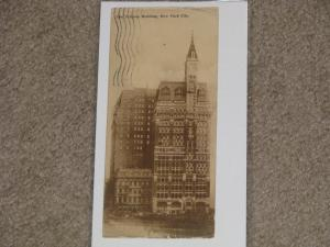 The Tribune Bldg., New York City, (Narrow Card), used vintage card, 1910