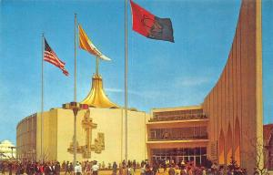 1964 New York Worlds Fair The Vatican Pavilion Original Postcard