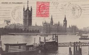 United Kingdom, Houses of Parliament, London, 1908 used Postcard