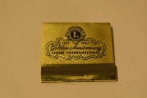 1917-1967 Golden Anniversary Lions International Matchbook