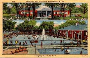 West Virginia Parkrsburg City Park Swimming Pool 1953 Curteich