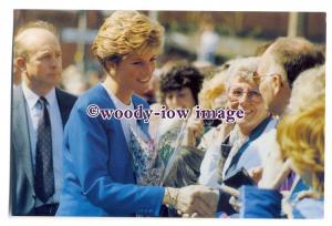 pq0016 - Princess Diana - Princess of Wales in Bridgwater 1991 - postcard