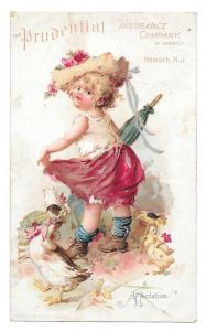 Prudential Insurance Victorian Trade Card 1895 Affectation
