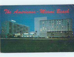 Pre-1980 AMERICANA MOTEL Bal Harbour - Near Miami Beach Florida FL c2172