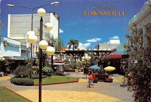 Townsville Australia Flinders Mall looking south Townsville Flinders Mall loo...