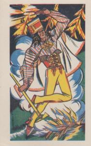 Vintage Polish Poland Red Indian Axe Style Costume Antique Postcard