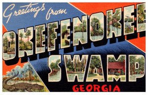 Large Letter GEORGIA OKEFENOKEE SWAMP