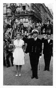 PRins van Luik Prinses Paola Ruffo di Calabria Visite a Bruxelles