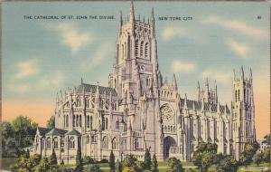 The Cathedral Of St John The Divine New York City 1940