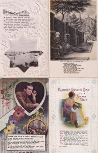 Father In Military Service Overseas Poem 4x Songcard Postcard s
