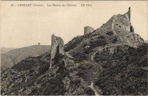 CPA CROZANT. Les Ruines du Chateau (121683)