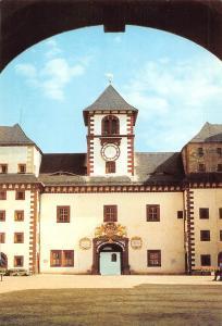 Castle Augustusburg Schlosshof mit Glockenturm Chateau