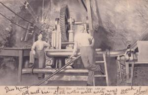 South African Gold Mines Robinson Electric Pump  Miners Old Postcard
