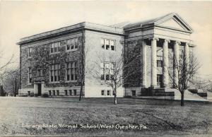 Vintage Postcard Library Normal school Westchester Pennsylvania chester county