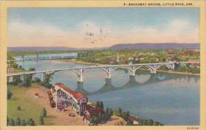 Arkansas Little Rock Broadway Bridge 1947 Curteich