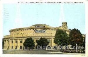 Radio Station Personality Postcard Postcards  Angelus Temple Church of the Fo...