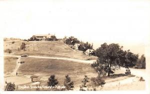 Frankfort MI~Golfer Takes Chip Shot~Cong'l Church Assembly @ Pilgrim~RPPC 1940