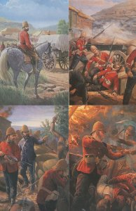 Mark Chums The Battle Of Waterloo 4x Military Painting Postcard s
