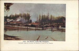 Port Blakeley WA Lumber Mill c1905 Postcard VG-EXC COND jrf