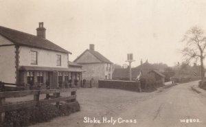 Stoke Holy Cross Norfolk Vintage Real Photo Postcard