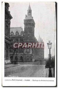 Postcard Old Clock Paris Courthouse