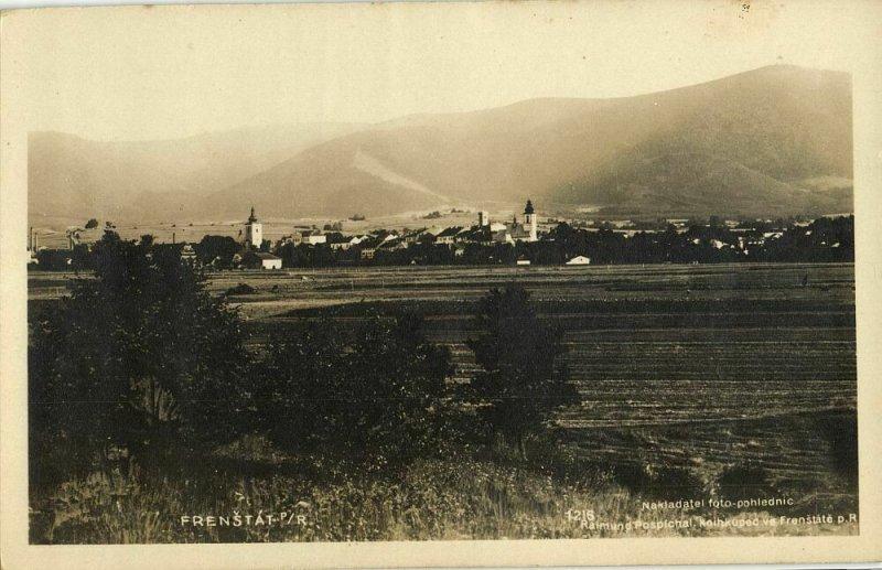 czech, FRENŠTÁT pod Radhoštěm, Panorama (1930s) RPPC Postcard (1)