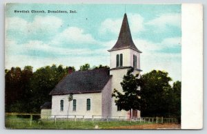 Donaldson Indiana~Swedish Church~Rail Hitching Post Fence~Remember This?~1910