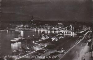 Switzerland Geneve Illumination de la Rade et de la Ville 1951 Photo