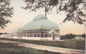 Kansas National Military Home Floral Conservatory Handcolored Albertype sk0151a