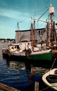 Massachusetts Gloucester Scene Along The Wharves Fishing Boat