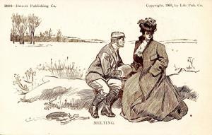 Melting   Artist: Charles Dana Gibson       (Romance)