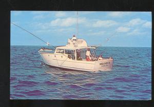 PANAMA CITY FLORIDA MELODY II FISHING BOAT VINTAGE ADVERTISING POSTCARD