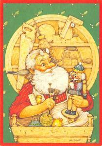 Modern Card Santa Claus 1989