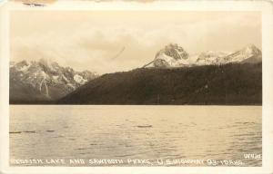 1925-1942 Real Photo Postcard; Redfish Lake & Sawtooth Peaks US Hwy 93 Idaho ID