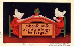 Sunbonnet Twins - Should Auld Acquaintance Be Forgot? - Artist: Wall