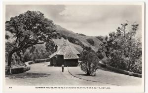 Sri Lanka / Ceylon; Summer House, Hakgala Gardens RP PPC, Unused, c 1950's